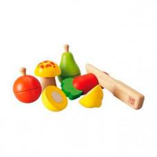 Деревянная игрушка Plan Toys Набор фруктов и овощей