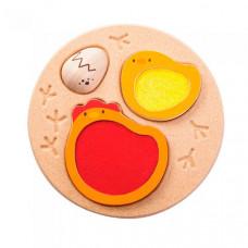 Деревянная игрушка Plan Toys Пазл-вкладыш Курочка