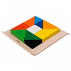 Деревянная игрушка Plan Toys Рамка-вкладыш Геометрические фигуры