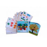 Деревянная игрушка Raduga Kids мозаика Цвета Буквы Цифры