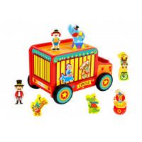 Деревянная игрушка Tooky Toy Джип Цирк