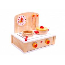 Деревянная игрушка Tooky Toy Игровой набор Плита
