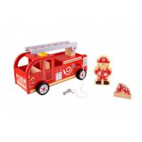Деревянная игрушка Tooky Toy Пожарная машинка TKF028