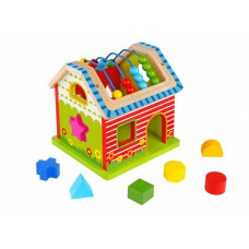 Деревянная игрушка Tooky Toy Сортер Домик