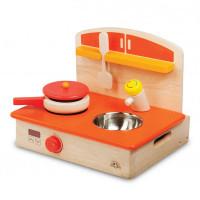 Деревянная игрушка Wonderworld Игровой набор Мобильная кухня с аксессуарами