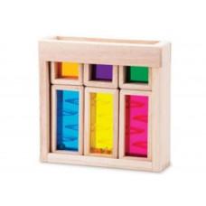 Деревянная игрушка Wonderworld Радужные блоки со звуком Рассвет