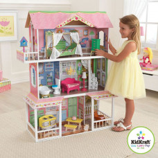 """Деревянный дом для Барби """"Карамельная Саванна"""" (Sweet Savannah) с мебелью"""