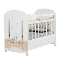 Детская кроватка Альма-Няня Amici Nuvola колесо-качалка с ящиком