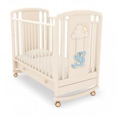 Детская кроватка Angela Bella Жаклин Мишка на качелях качалка