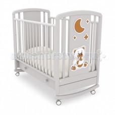 Детская кроватка Angela Bella Жаклин Мишка с соской качалка
