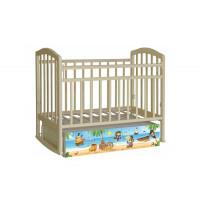 Детская кроватка Антел Алита 4 Пираты (маятник поперечный)