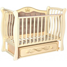 Детская кроватка Антел Luiza 333 с мягкой стенкой универсальный маятник
