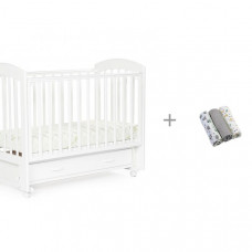 Детская кроватка Bebizaro Regency маятник универсальный и Набор пеленок BabyOno (муслин)