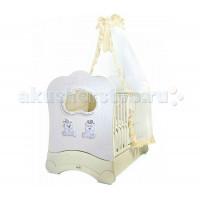 Детская кроватка Feretti Majesty Brillante FMS OBLO продольный маятник