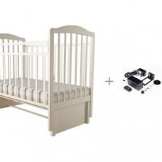 Детская кроватка Forest Malva маятник продольный (без ящика) и укачиватель Паинька