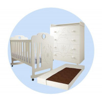 Детская кроватка Forest Морячок качалка с комодом и матрасом