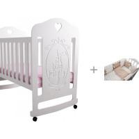 Детская кроватка Forest Принцесса качалка с комплектом в кроватку Dream