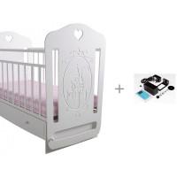 Детская кроватка Forest Принцесса маятник поперечный и укачиватель Совушка c Wi-Fi
