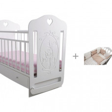 Детская кроватка Forest Принцесса маятник поперечный с комплектом в кроватку Dream