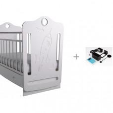 Детская кроватка Forest Space маятник поперечный с укачивателем Соня