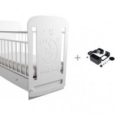 Детская кроватка Forest Sweet Dreams маятник поперечный с укачивателем Малюткa