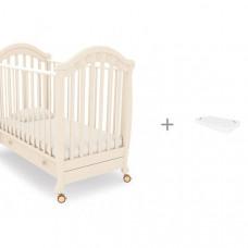 Детская кроватка Гандылян Джозеппе + матрас Баю-Бай 120x60