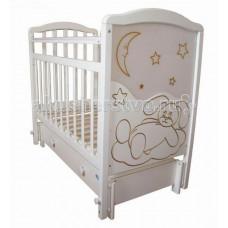 Детская кроватка Ивашка Мой малыш 12 маятник продольный