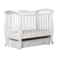 Детская кроватка Кубаньлесстрой БИ 555.3 Магнолия продольный маятник