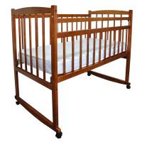 Детская кроватка Массив Беби-2 опускающееся боковое ограждение качалка