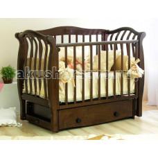 Детская кроватка Можга (Красная Звезда) Аэлита С-888 Птички с инкрустацией поперечный маятник