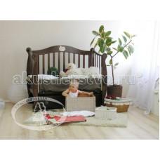 Детская кроватка Можга (Красная Звезда) Валерия С707 Мишка на облаке продольный маятник
