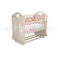 Детская кроватка Можгинский лесокомбинат Шарлотта-2 Бабочки Laluca (маятник поперечный)