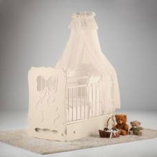 Детская кроватка Островок уюта Мальвина маятник поперечный с ящиком
