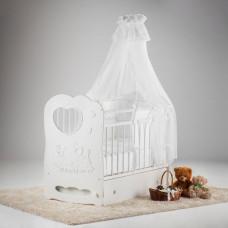 Детская кроватка Островок уюта Слоненок маятник поперечный с ящиком