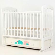Детская кроватка Топотушки Слоники-7 маятник поперечный