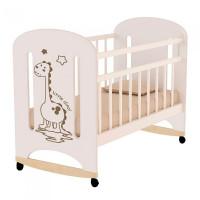 Детская кроватка ВДК Dino фигурные спинки колесо-качалка