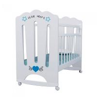 Детская кроватка ВДК Little Heart колесо-качалка