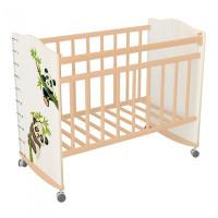 Детская кроватка ВДК Морозко Панды фигурные спинки колесо-качалка