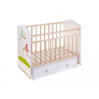 Детская кроватка ВДК Морозко ящик (поперечный маятник)