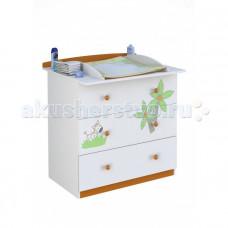 Детский комод Polini Basic Джунгли пеленальный (3 ящика)