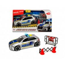 Dickie Полицейская машинка Audi RS3 фрикционная с аксессуарами 15 см