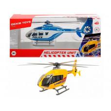 Dickie Вертолет EC 135 die-cast с крутящимися лопастями 21 см