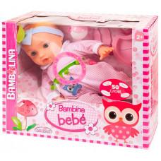 Dimian Кукла-пупс Bambina Bebe с аксессуарами 42 см