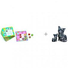 Djeco Игра настольная Джунгли и Crystal Puzzle Головоломка Кошка