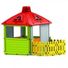 Dolu Игровой домик для улицы Городской дом с ограждением