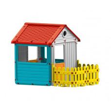 Dolu Игровой домик для улицы с ограждением 3013