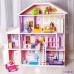 """Дом из дерева для Барби """"Фантазия"""" (19 предметов мебели, лифт, лестница, гараж)"""