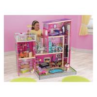 """Дом мечты Барби """"Глянец"""", с мебелью 35 предметов и бассейном"""