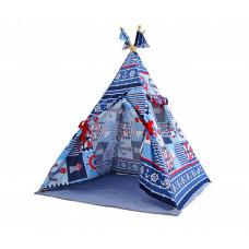 ДоММой Вигвам Синие штурвалы с ковриком