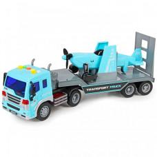 Drift Автовоз с самолетом Transport Truck 1:16